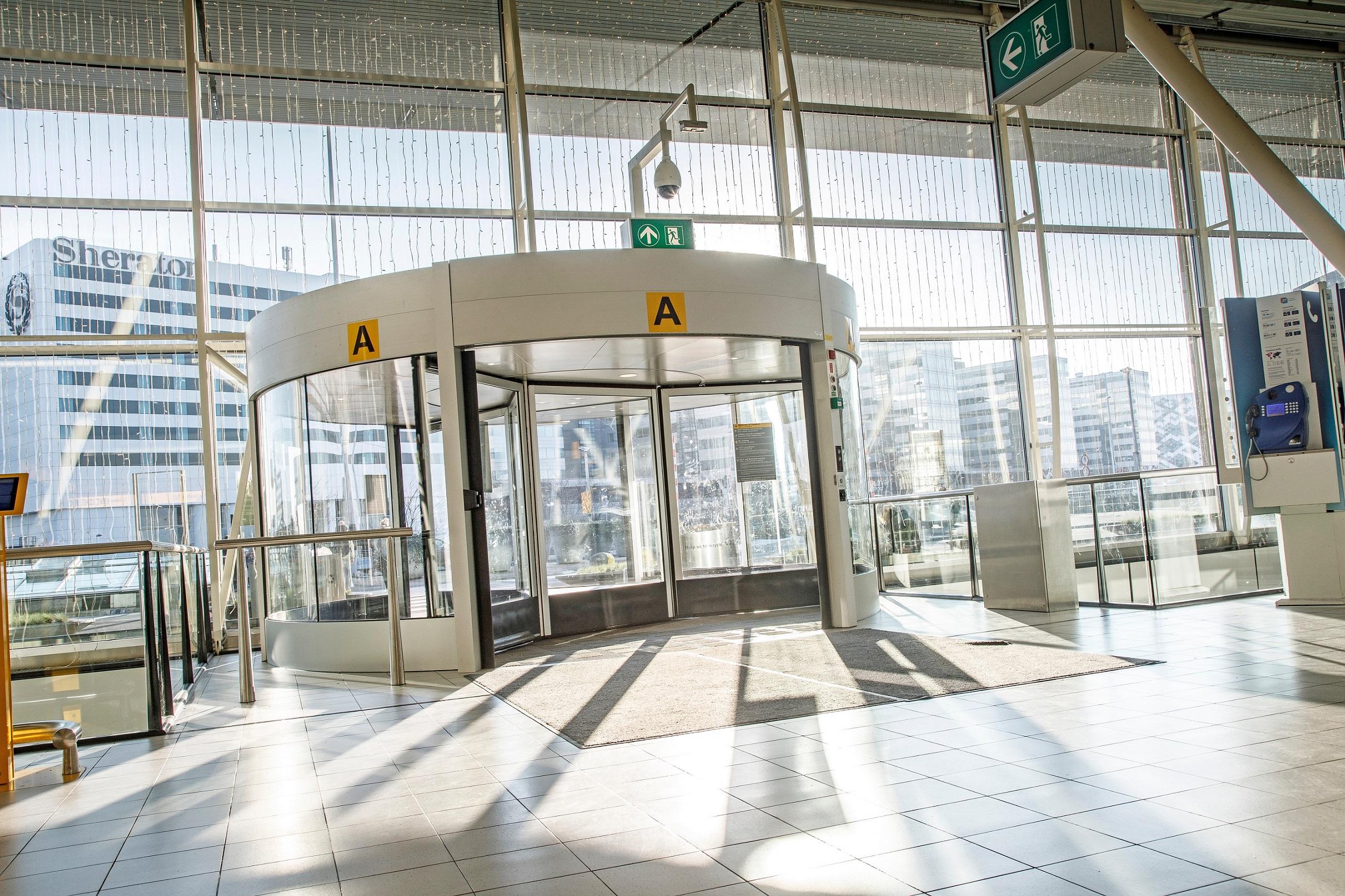 Automatic Revolving Door at Airport