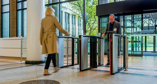 Optical Turnstiles in Corporate Lobbies for Tailgating Deterrance and Detection