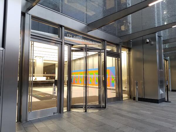 Revolving doors are better at reducing air infiltration than vestibules
