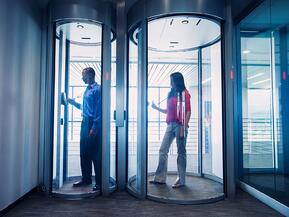 Physical security entrances are designed to prevent unauthorized entry