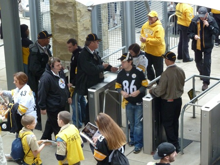 Tripod turnstiles are typically used at stadiums and sports events