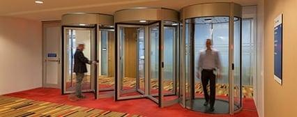 Security revolving doors and mantrap portal