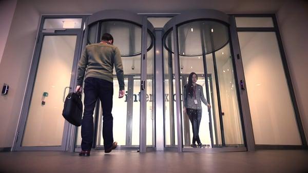 Mantrap security portals at a data center