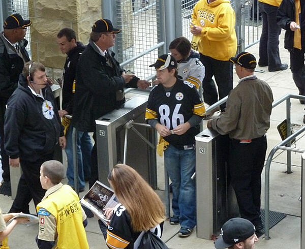 Tripod Turnstiles at a Stadium for Crowd Control