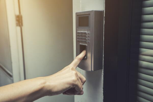 biometric device on swing door_access control
