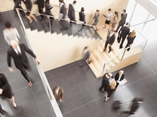 Consider the building traffic when calculating entrance throughput requirements